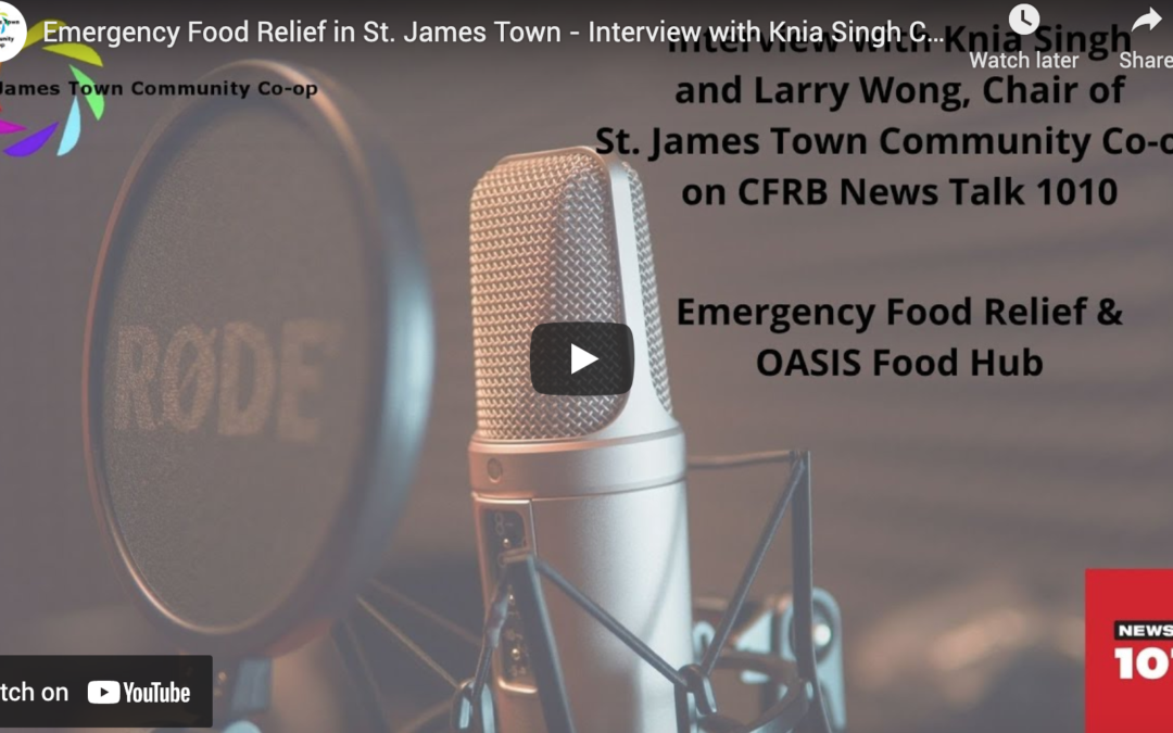 Interview with Knia Singh on CFRB NewsTalk 1010